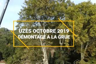 Démontage à la Grue, plans de drone – Uzès Octobre 2019