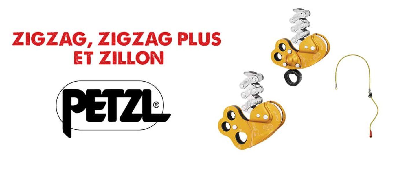 ZigZag, ZigZag Plus et Zillon Petzl à contrôler