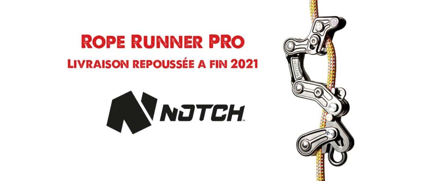 Rope Runner Pro : livraison (re)repoussée à fin 2021